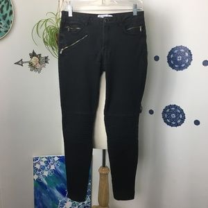 Zara Basic black motto jeans skinny stretch 04